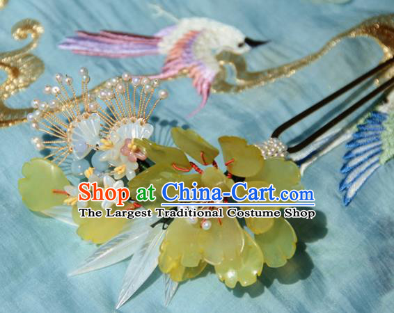 Traditional Chinese Hanfu Albizia Flowers Hair Clip Hair Accessories Ancient Princess Hairpins for Women