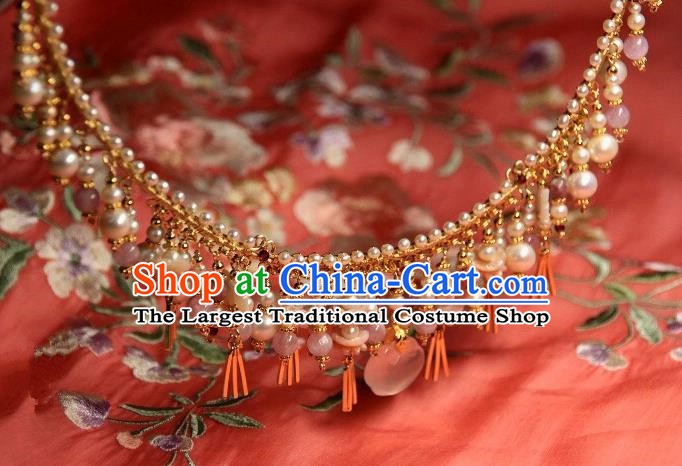 Traditional Chinese Hanfu Accessories Ancient Princess Pearls Necklace for Women