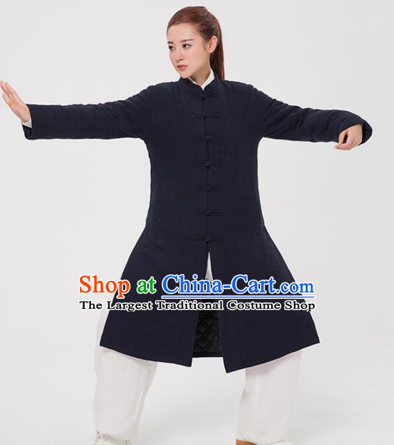 Asian Chinese Martial Arts Traditional Kung Fu Costume Tai Ji Training Group Competition Cotton Padded Coat for Women