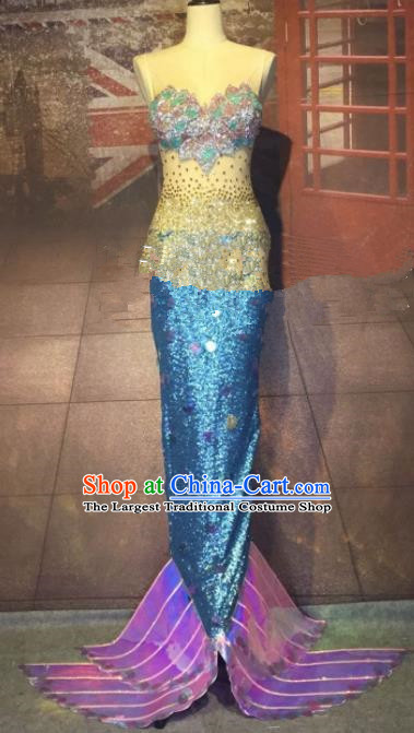 Top Grade Halloween Stage Performance Cosplay Mermaid Dress Brazilian Carnival Modern Fancywork Costume for Women