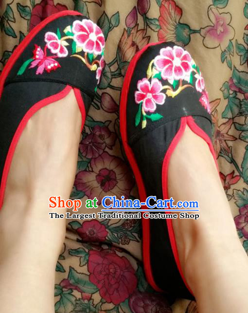 Chinese National Black Shoes Traditional Cloth Shoes Hanfu Shoes Embroidered Shoes for Women