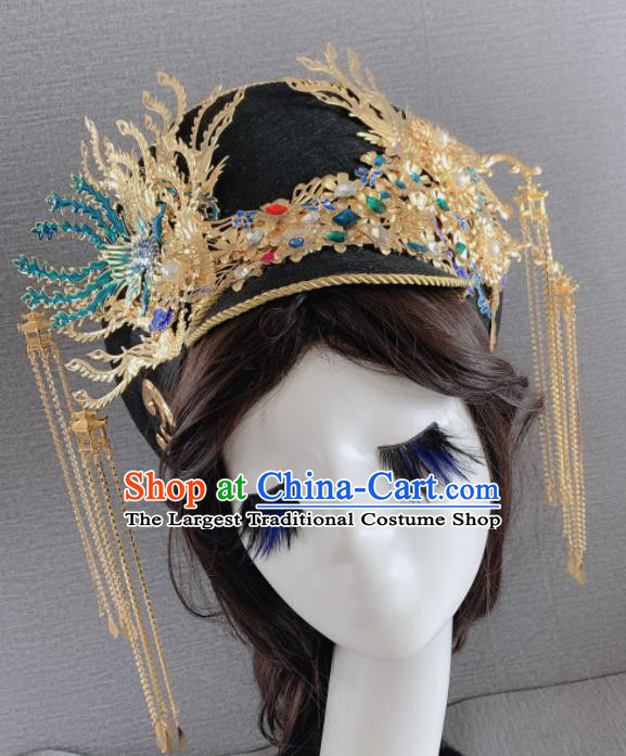 Chinese Handmade Hair Accessories Phoenix Coronet Ancient Palace Queen Headwear for Women