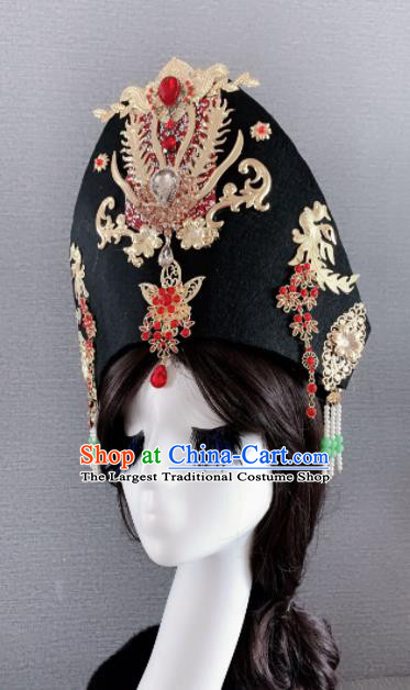 Chinese Handmade Hair Accessories Ancient Palace Queen Phoenix Coronet Headwear for Women