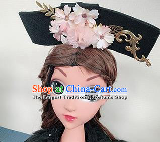 Traditional Chinese Qing Dynasty Princess Pink Flowers Hair Accessories Handmade Ancient Hair Clasp for Women
