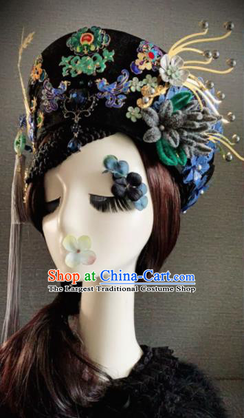 Traditional Chinese Ancient Qing Dynasty Palace Queen Phoenix Coronet Headwear Hair Accessories for Women