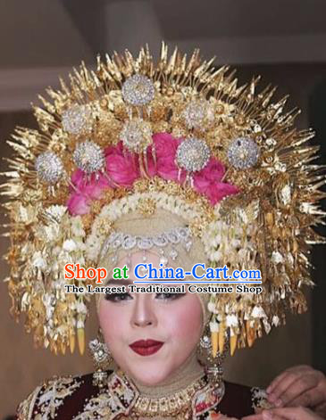 Handmade Thailand Traditional Hair Accessories Ancient Queen Royal Crown for Women