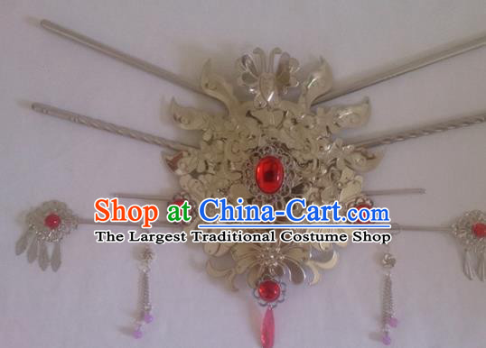 Chinese Ancient Princess Hair Crown Hairpins Traditional Palace Hair Accessories for Women