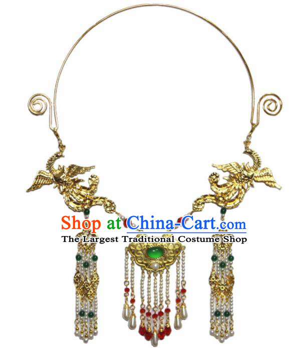 Handmade Chinese Hanfu Tassel Necklace Traditional Ancient Princess Necklet Accessories for Women