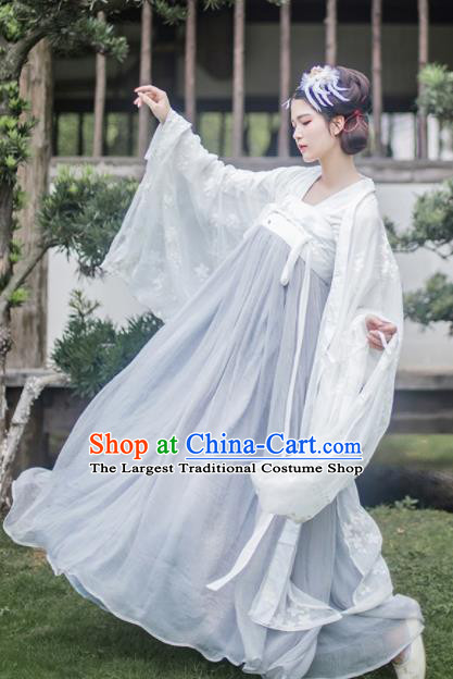 Traditional Chinese Tang Dynasty Imperial Consort Hanfu Dress Ancient Peri Goddess Costume for Women