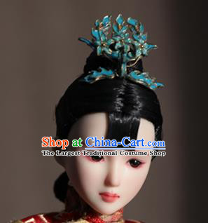 Chinese Ancient Empress Phoenix Hairpins Headwear Traditional Qing Dynasty Manchu Queen Hair Accessories for Women