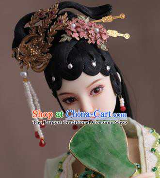 Chinese Ancient Princess Phoenix Hairpins Headwear Traditional Tang Dynasty Hair Accessories for Women