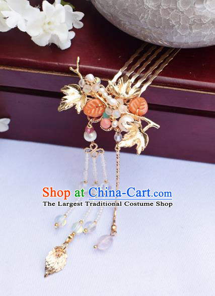 Chinese Ancient Princess Tassel Hair Combs Hairpins Traditional Hanfu Hair Accessories for Women