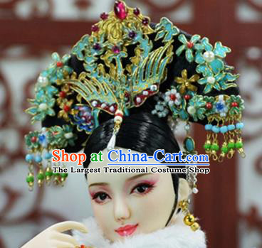 Chinese Ancient Palace Concubine Headwear Traditional Qing Dynasty Manchu Imperial Consort Hair Accessories for Women