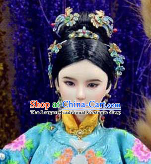 Chinese Ancient Ming Dynasty Imperial Consort Hairpins Traditional Hanfu Hair Accessories for Women