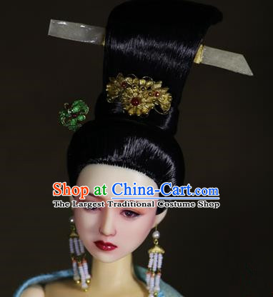 Chinese Ancient Tang Dynasty Imperial Concubine Hairpins Headwear Traditional Palace Hair Accessories for Women