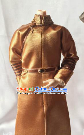 Chinese Qing Dynasty Manchu Prince Clothing Ancient Nobility Childe Embroidered Historical Costume for Men