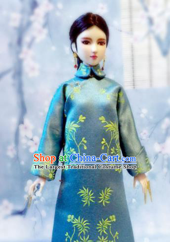 Chinese Qing Dynasty Manchu Qipao Dress Ancient Palace Embroidered Historical Costume for Women