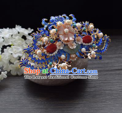 Chinese Ancient Princess Palace Cloisonne Hairpins Traditional Handmade Hanfu Hair Accessories Complete Set for Women
