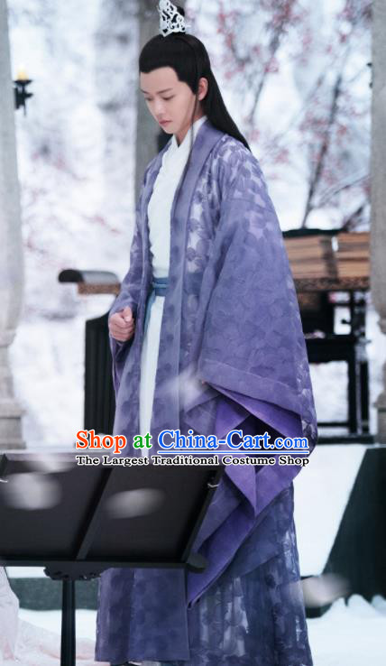 Chinese Drama Madam White Snake Ancient Nobility Childe Swordsman Historical Costume and Headpiece for Men