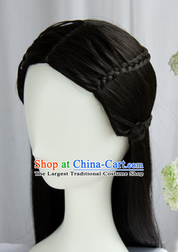 Handmade Chinese Traditional Hanfu Wigs Sheath Ancient Princess Chignon for Women