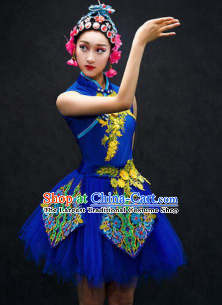 Chinese Classical Dance Costume Traditional Folk Dance Green Veil Dress for Women