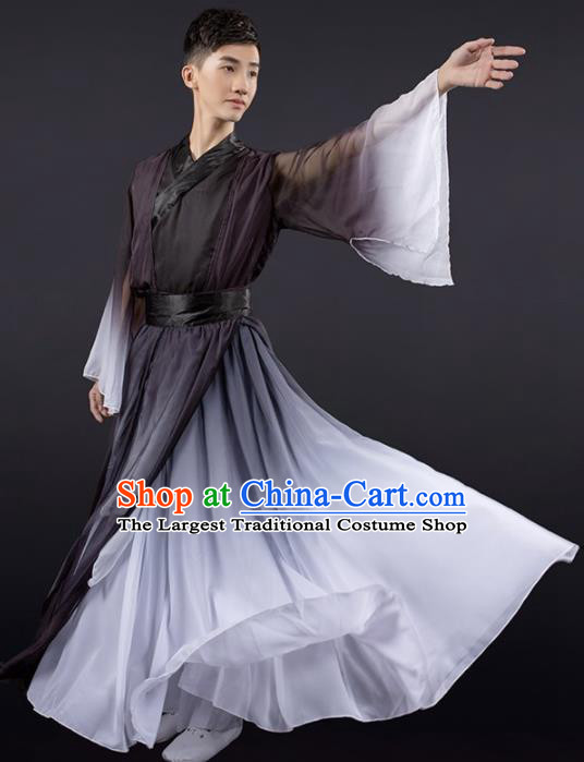 Chinese Yangko Dance Stage Performance Black Costume Traditional Classical Dance Clothing for Men
