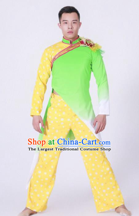 Chinese Folk Dance Stage Performance Costume Traditional Yangko Group Dance Clothing for Men