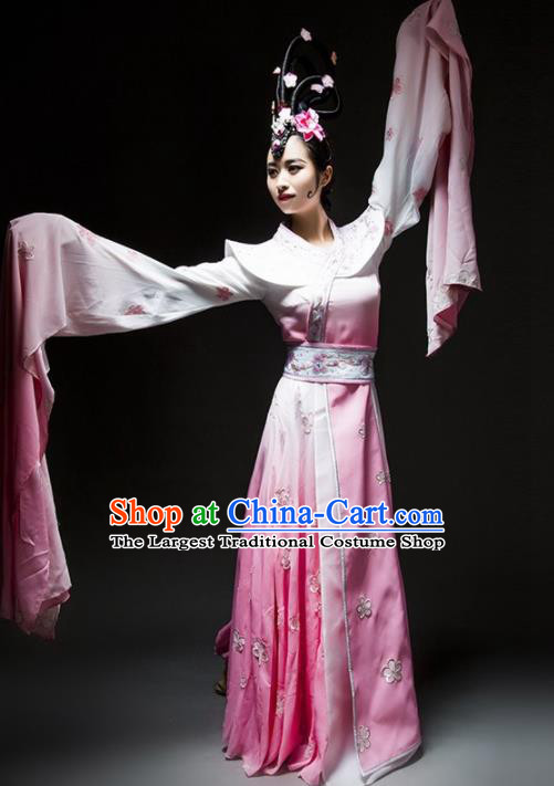 Chinese Classical Dance Costume Traditional Stage Performance Pink Hanfu Dress for Women