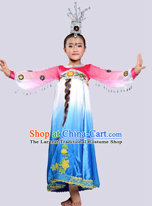 Chinese Korean Nationality Ethnic Costume Traditional Minority Folk Dance Stage Performance Clothing for Kids