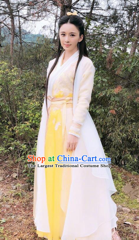 Chinese Drama Relying on Heaven to Slaughter Dragons Ancient Yuan Dynasty Swordswoman Hanfu Dress for Women