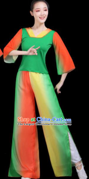 Traditional Chinese Folk Dance Group Dance Clothing Yangko Fan Dance Stage Performance Costume for Women