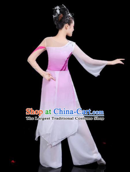 Traditional Chinese Classical Dance Group Dance Dress Umbrella Dance Stage Performance Costume for Women