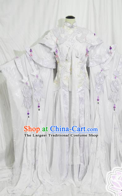 Traditional Chinese Court Princess Hanfu Dress Ancient Swordswoman Embroidered Costume for Women