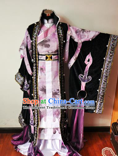 Traditional Chinese Cosplay Court Princess Pink Hanfu Dress Ancient Swordswoman Embroidered Costume for Women