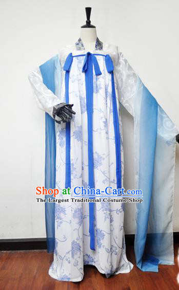 Traditional Chinese Cosplay Tang Dynasty Princess Hanfu Dress Ancient Swordswoman Embroidered Costume for Women
