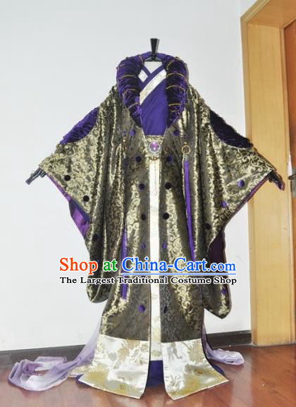 Traditional Chinese Cosplay Taoist Priest Hanfu Clothing Ancient Swordsman Royal Highness Embroidered Costume for Men
