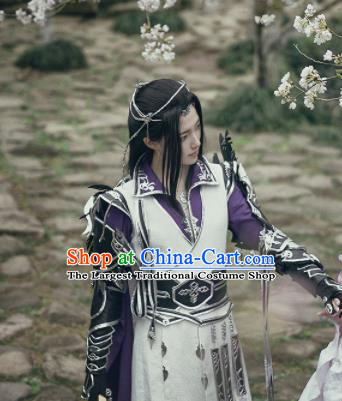 Traditional Chinese Cosplay Nobility Childe Hanfu Clothing Ancient Swordsman Royal Highness Embroidered Costume for Men