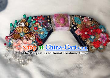 Traditional Chinese Qing Dynasty Palace Lady Headwear Ancient Manchu Hair Accessories for Women