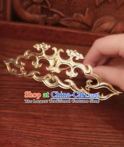 Traditional Chinese Ming Dynasty Queen Hairpins Cloud Hair Crown Handmade Ancient Palace Hair Accessories for Women