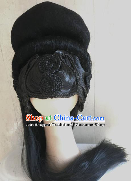 Traditional Chinese Tang Dynasty Queen Wigs Ancient Palace Princess Chignon Hair Accessories for Women