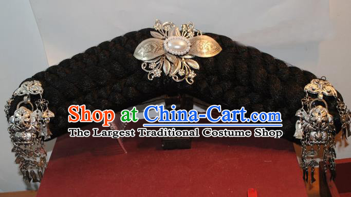 Chinese Traditional Qing Dynasty Princess Headwear Ancient Palace Lady Hair Accessories for Women