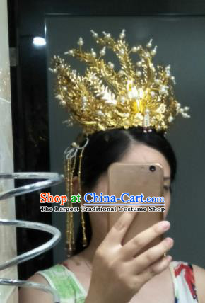 Traditional Chinese Handmade Ancient Song Dynasty Queen Phoenix Coronet Hairpins Headwear Hair Accessories for Women
