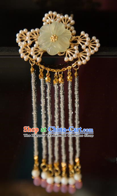 Chinese Handmade Hanfu Hairpins Pine Tassel Hair Claw Traditional Ancient Princess Hair Accessories for Women