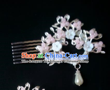 Chinese Handmade Hanfu Palace Hair Comb Hairpins Traditional Ancient Princess Hair Accessories for Women