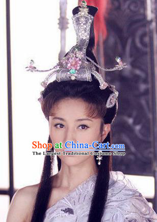 Handmade Chinese Phoenix Coronet Traditional Hanfu Hairpins Ancient Ming Dynasty Princess Hair Accessories for Women