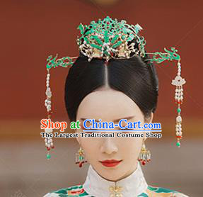 Chinese Handmade Hanfu Palace Phoenix Coronet Hairpins Traditional Ancient Princess Hair Accessories for Women