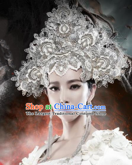 Handmade Chinese Palace Hairpins Phoenix Coronet Traditional Hanfu Hair Clips Ancient Queen Hair Accessories for Women