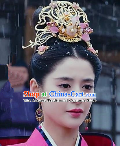 Handmade Chinese Palace Princess Hairpins Traditional Hanfu Hair Crown Ancient Hair Accessories for Women