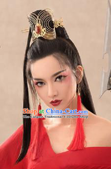 Chinese Handmade Hanfu Swordswoman Palace Hair Crown Hairpins Traditional Ancient Imperial Consort Hair Accessories for Women