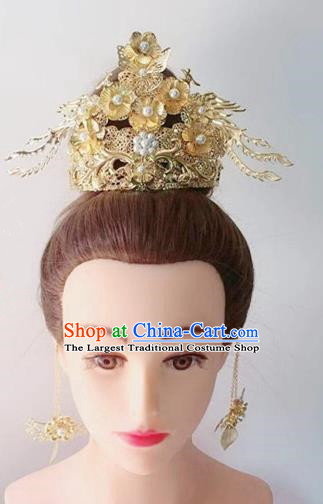 Chinese Handmade Hanfu Song Dynasty Hairpins Phoenix Coronet Traditional Ancient Imperial Consort Hair Accessories for Women